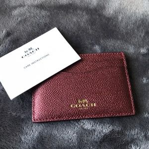 COACH FLAT CARD CASE